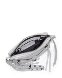 Botkier - Metallic Trigger Leather East-west Crossbody Bag - Lyst