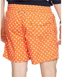 Polo Ralph Lauren | Orange Traveler Dotted Swim Shorts for Men | Lyst