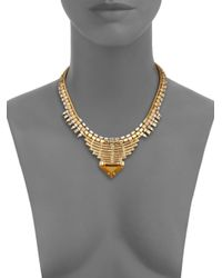 DANNIJO - Metallic Ezra Crystal Collar Necklace - Lyst