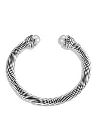David Yurman | Metallic Crossover™ Bracelet With Pearls And Diamonds | Lyst