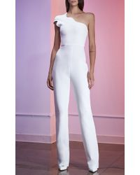 Cushnie et Ochs - White Power Viscose Asymmetric Jumpsuit - Lyst