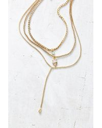 Urban Outfitters | Metallic Porter Layering Necklace Set | Lyst