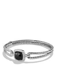 David Yurman | Metallic Albion Bracelet With Black Onyx And Diamonds | Lyst