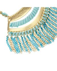 River Island - Girls Blue Suede Tassel Necklace - Lyst