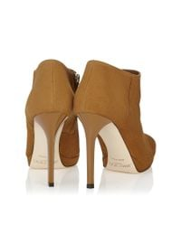 Jimmy Choo | Brown Lindsey 100 Cinnamon Suede Platform Shoe Booties | Lyst