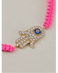 Aamaya By Priyanka - Pink Hamsa Hand Friendship Bracelet - Lyst