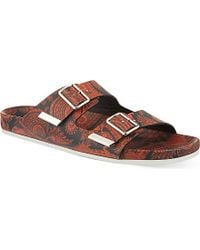 Givenchy - Brown Paisley Leather Sandals - Lyst