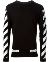 Off-White c/o Virgil Abloh - Black Striped Sweater for Men - Lyst