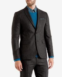 Ted Baker | Black Micro Design Jacket for Men | Lyst
