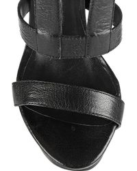 Camilla Skovgaard - Black Leather Wedge Sandals - Lyst