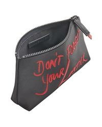 Lulu Guinness | Black Don't Forget Your Lipstick Medium T-seam | Lyst