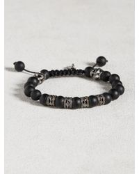 John Varvatos | Black Onyx Bracelet With Multi Rhodium Cutout Rondels for Men | Lyst