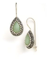 Lord & Taylor | Metallic Sterling Silver And Marcasite Jade Drop Earrings | Lyst