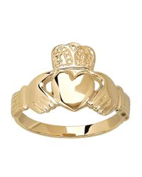 Lord & Taylor | Metallic 14 Kt. Yellow Gold Claddagh Ring | Lyst