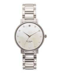 Kate Spade | Metallic 'gramercy' Crystal Marker Watch | Lyst