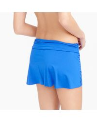 J.Crew   Blue Jersey Lomellina Ruffle Underwire Bikini Top   Lyst