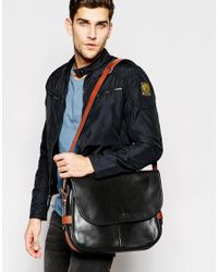 Polo Ralph Lauren | Black Leather Messenger Bag for Men | Lyst