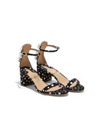 Ferragamo - Black Connie Embellished Suede Sandals - Lyst
