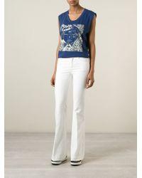 Stella McCartney - White Flared Jeans - Lyst