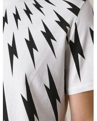 Neil Barrett - Black Repeat Lightning Pattern for Men - Lyst