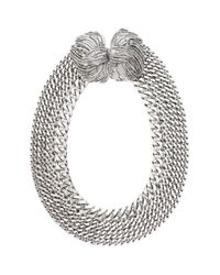 Lizzie Fortunato | Metallic Large Rhodium Chain Ncklce | Lyst