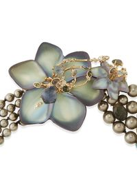 Alexis Bittar - Gray Crystal Lace Flower Necklace - Lyst