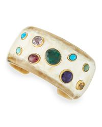 Ashley Pittman | Green Macho Multi-stone Cuff | Lyst