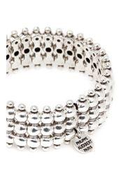 Philippe Audibert - Metallic 'nicky' Sphere Five Tier Elastic Bracelet - Lyst