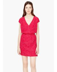 Mango | Red Flowy Print Dress | Lyst