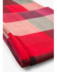 Mango - Red Check Scarf for Men - Lyst