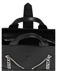 KENZO | Black Mini Kalifornia Smooth Leather Bag | Lyst