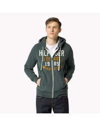 Tommy Hilfiger - Green Cotton Blend Hoody for Men - Lyst