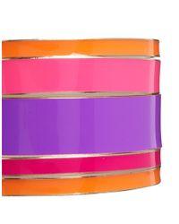 Lipsy - Pink Enamel Bangle Multipack Bangle - Lyst