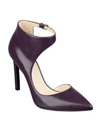 Nine West | Purple Teecup Leather Pumps | Lyst