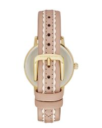 kate spade new york - Pink Scallop Metro Watch - Lyst