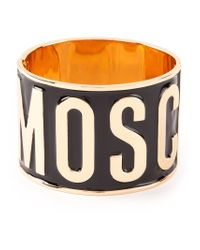 Moschino - Metallic Logo Cuff - Lyst