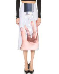 Karla Špetic - Multicolor His Hand Skirt - His Hand Print/black - Lyst
