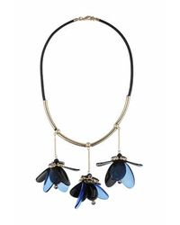 TOPSHOP - Blue Acrylic Flower Necklace - Lyst