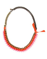 Lanvin | Pink 'bahia' Short Necklace | Lyst