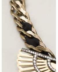 Lanvin - Metallic Winged Beetle Necklace - Lyst