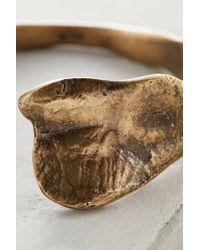 Anthropologie - Metallic Quarry Twist Bangle - Lyst
