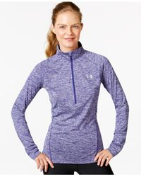 Under Armour | Purple Ua Tech™ Heathered Half-zip Top | Lyst