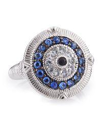 Judith Ripka | Blue Ridged Sapphire Evil Eye Ring 7 for Men | Lyst