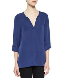 Joie - Blue Kahari 3/4-sleeve Silk Top - Lyst
