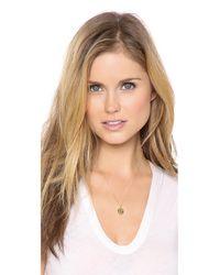 Sarah Chloe - Metallic Eva Engraved Pendant Necklace - F - Lyst
