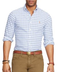 Polo Ralph Lauren | Blue Checked Oxford Sportshirt for Men | Lyst