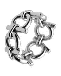 Ferragamo - Metallic Ring - Lyst