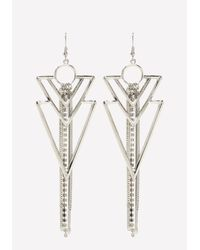Bebe - Metallic Crystal Earrings - Lyst