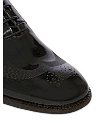 Ferragamo - Black 30Mm Nuede Brushed Leather Oxford Shoes for Men - Lyst