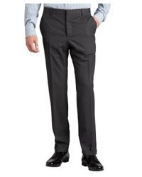 Prada | Gray Grey Wool Flat Front Straight Leg Pants for Men | Lyst